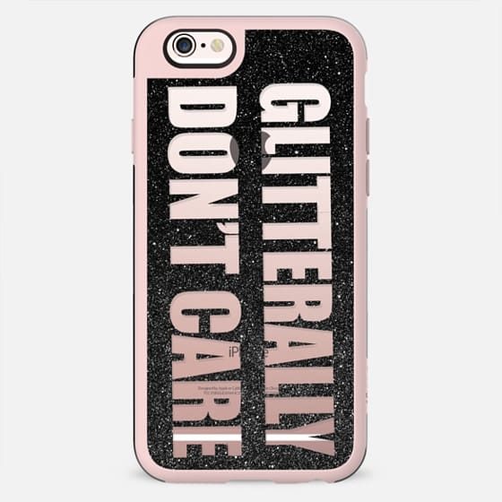 Cute ''Glitterally Don't Care'' Typography Cutout - New Standard Case