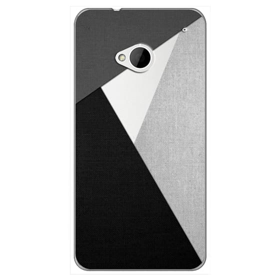 Htc One Cases - Black, White, and Grey Tri-Cut Fabric
