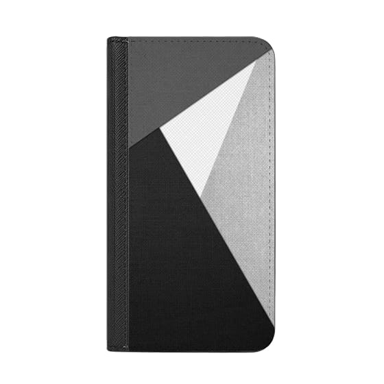 iPhone 7 Plus Cases - Black, White, and Grey Tri-Cut Fabric