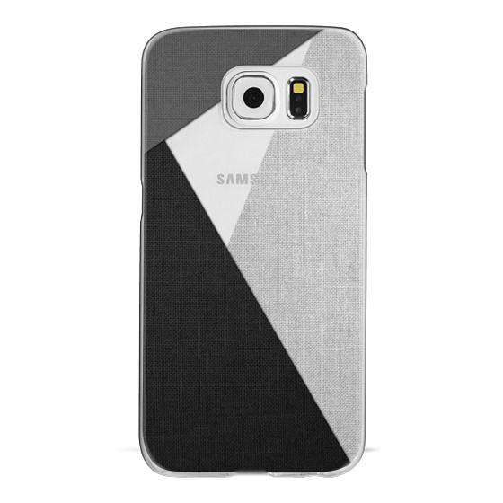 Samsung Galaxy S6 Cases - Black, White, and Grey Tri-Cut Fabric