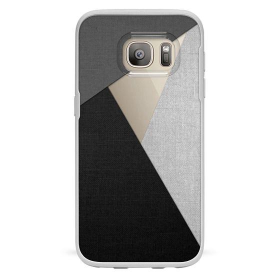 Samsung Galaxy S7 Cases - Black, White, and Grey Tri-Cut Fabric