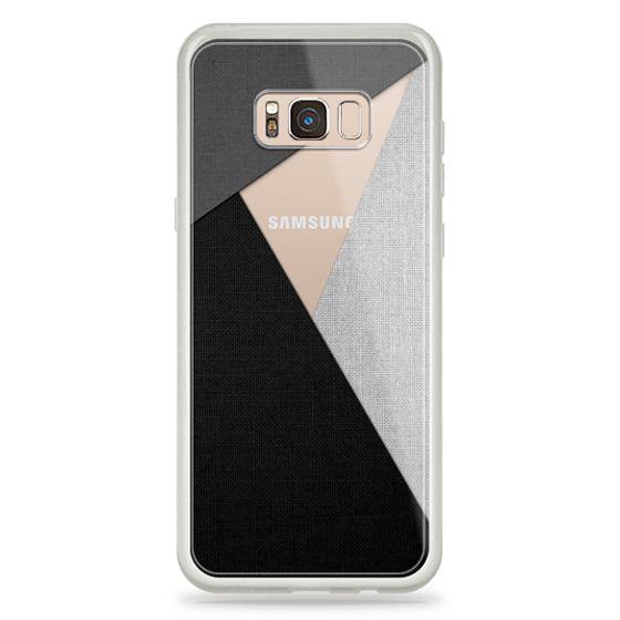 Samsung Galaxy S8 Plus Cases - Black, White, and Grey Tri-Cut Fabric