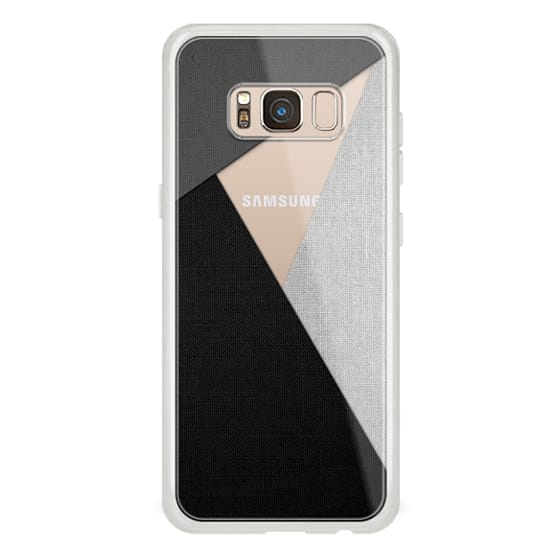 Samsung Galaxy S8 Cases - Black, White, and Grey Tri-Cut Fabric