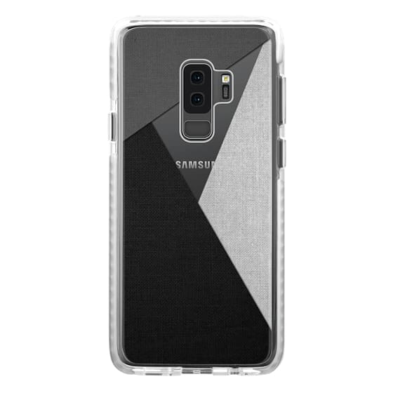 Samsung Galaxy S9 Plus Cases - Black, White, and Grey Tri-Cut Fabric