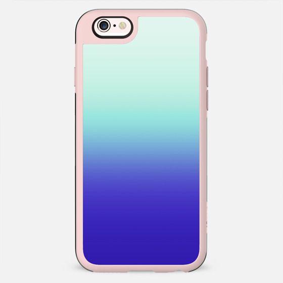 Trendy Teal Green to Deep Sea Blue Gradient - New Standard Case