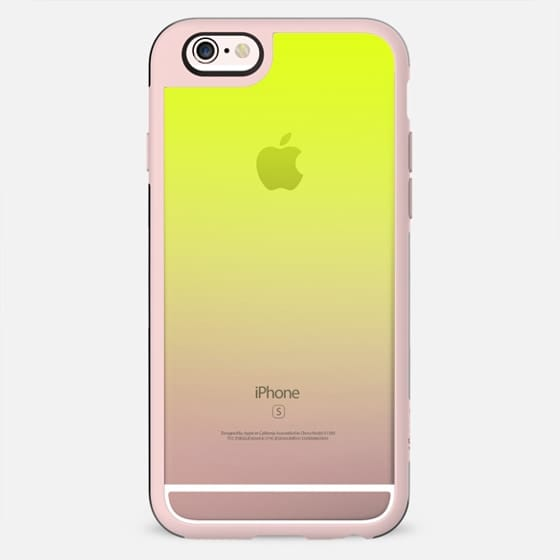 Simple Trendy Neon Yellow to Transparent Gradient - New Standard Case