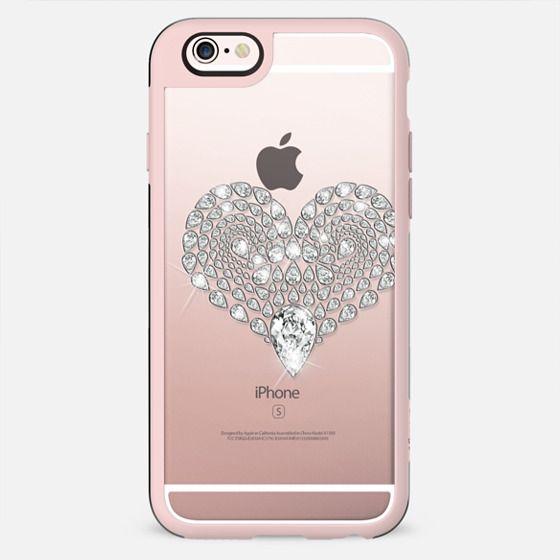 Elegant Beautiful Image of Bling Diamond Heart on Transparent Background - New Standard Case