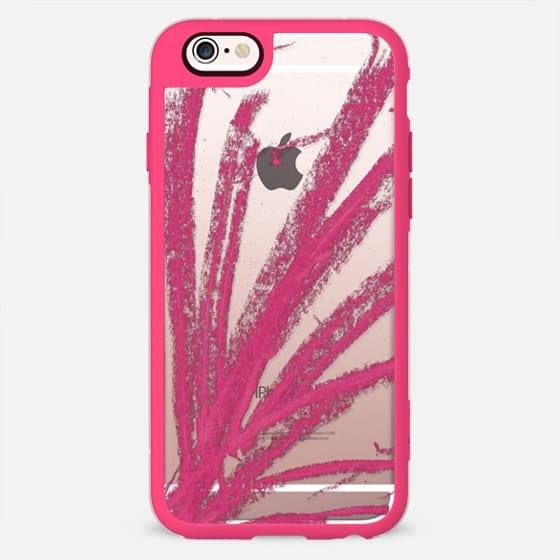 Pink Modern Minimalistic Artsy Girly Pink Colored Pencil Doodle- Transparent -
