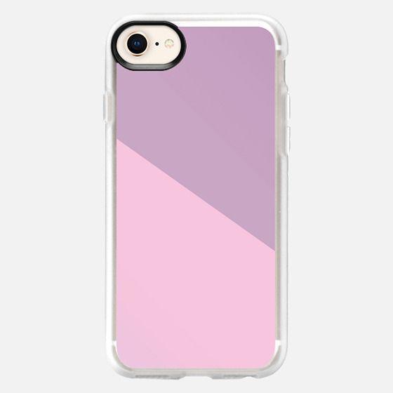 Simple Modern Angle Pastel Pink Purple  - Snap Case