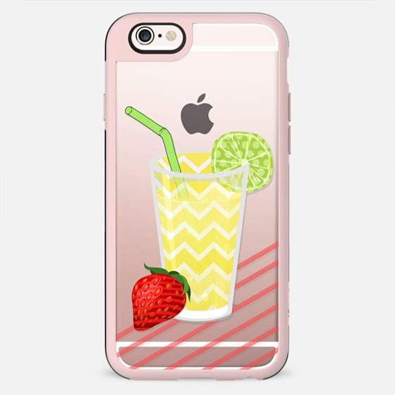 Fruity Summer Strawberry Limeade Juicy Drink- Transparent - New Standard Case