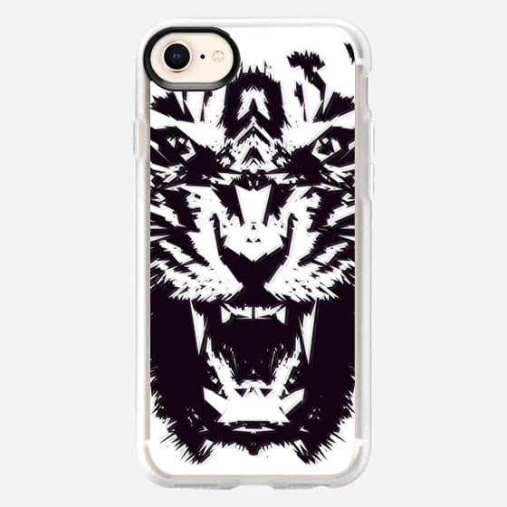 Modern Abstract Tiger Jagged Pattern Black and White  - Snap Case