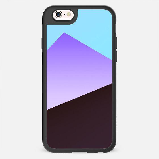 Minimal Simple Blue Purple Black Gradient Triangle Pattern -