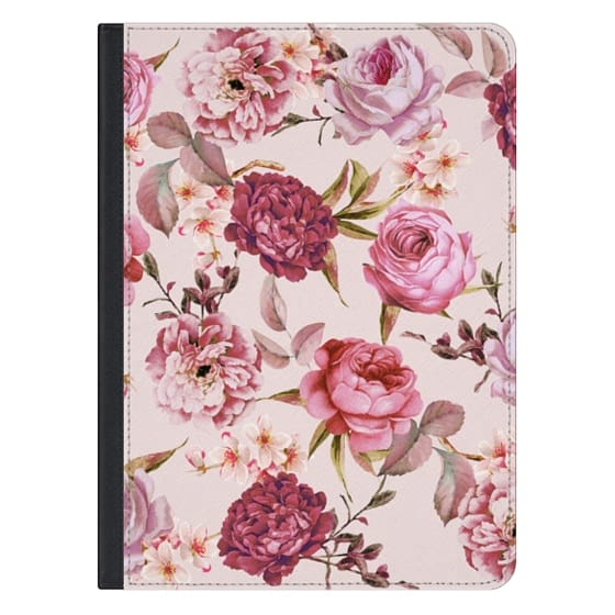 12.9-inch iPad Pro Covers - Blush Pink Rose Watercolor Chic Illustration Floral Pattern