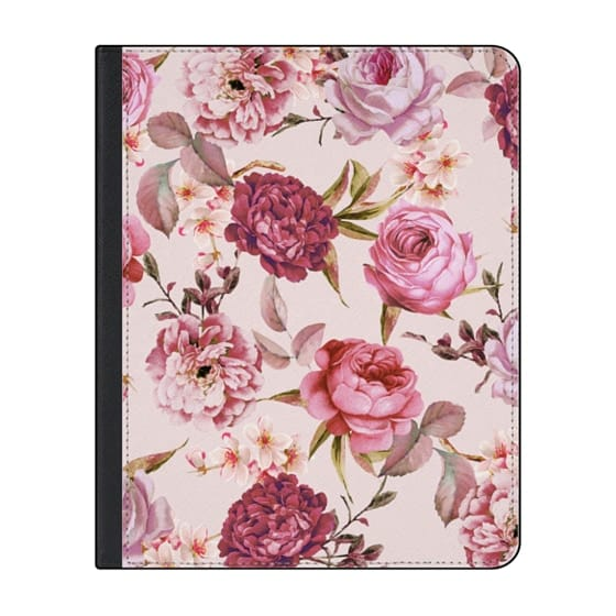 12.9-inch iPad Pro (2018) Covers - Blush Pink Rose Watercolor Chic Illustration Floral Pattern