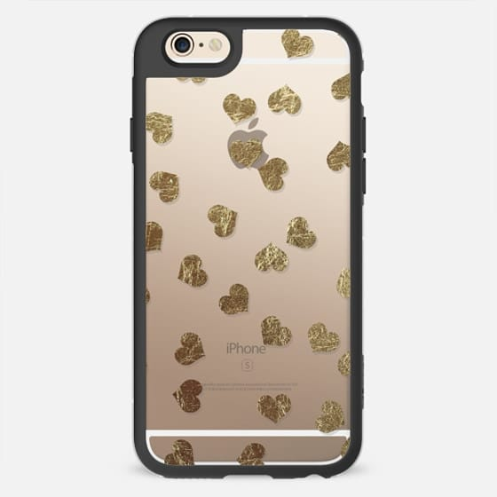Faux Gold Hearts Pattern - New Standard Case