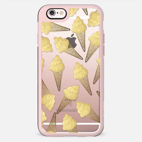 Summer Ice Cream Cone Transparent- Gold Edition - New Standard Case