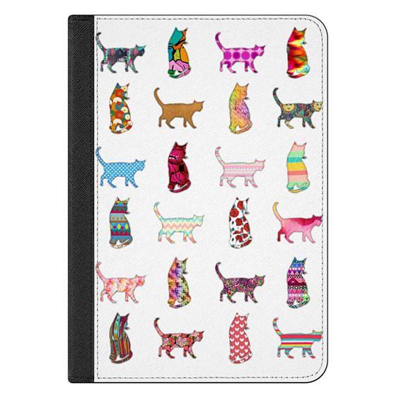 iPad Mini 4 Covers - Cool Funky Bright Neon Pattern Kitty Cats Animals