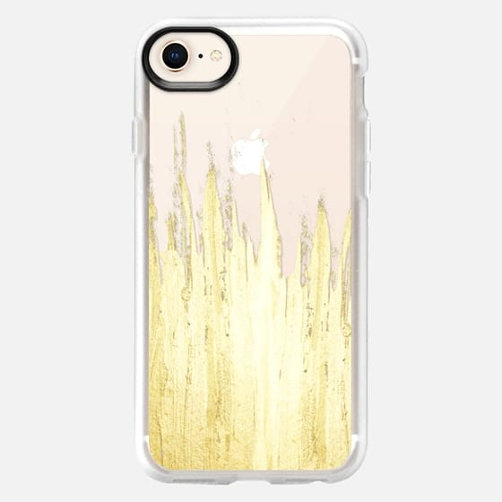 Paint Strokes on Transparent Background- Gold Edition - Snap Case