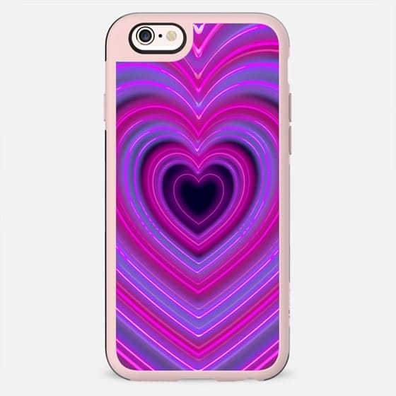 Cool Funky Trendy Bright Neon Lights Hearts - New Standard Case