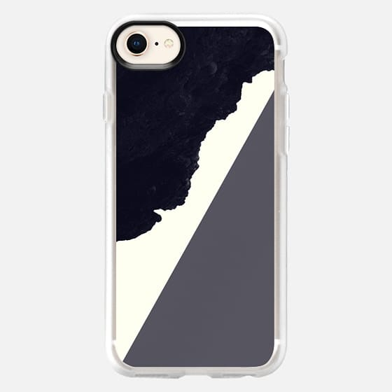 Contemporary Modern Minimalistic Black, Grey, and White Abstract Art - Snap Case