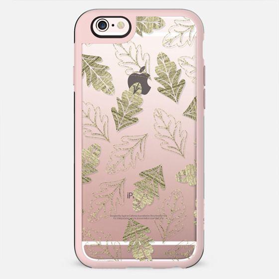 Elegant Faux Gold Leaf Fall Leaves - New Standard Case