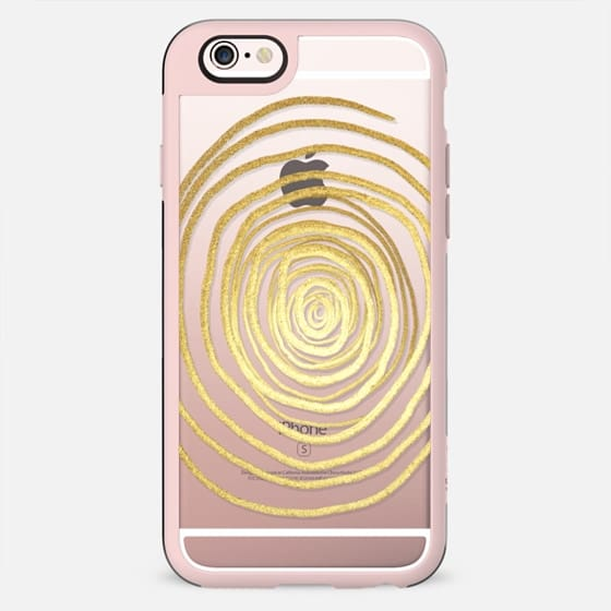 Painted Brush Stroke Circular Swirl on Transparent Background- Gold Edition - New Standard Case