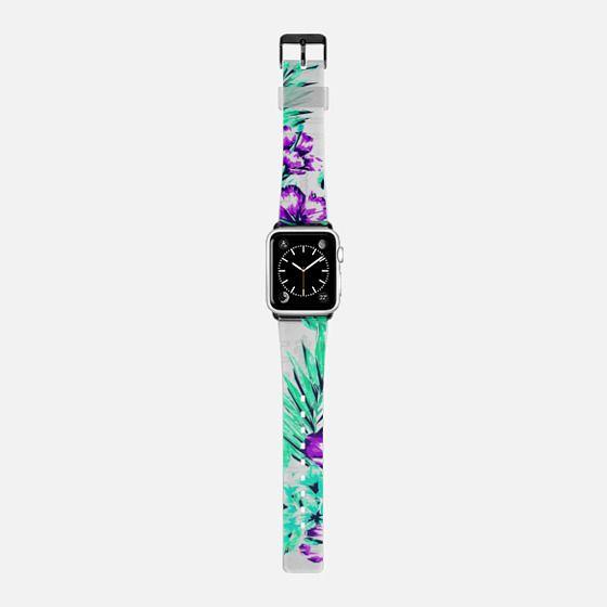 Tropical Flower Summer Modern Geometric Floral Patter  -