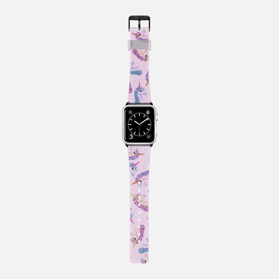 Cute Girly Unicorn Horse Pink Purple watercolor Animal Pattern -