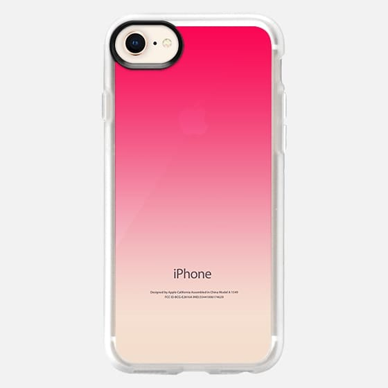 Simple Trendy Hot Neon Pink to Transparent Gradient - Snap Case