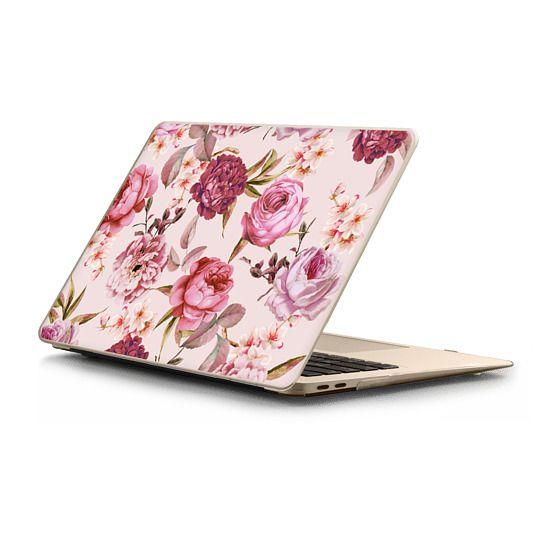 MacBook Air Retina 13 Sleeves - Blush Pink Rose Watercolor Chic Illustration Floral Pattern