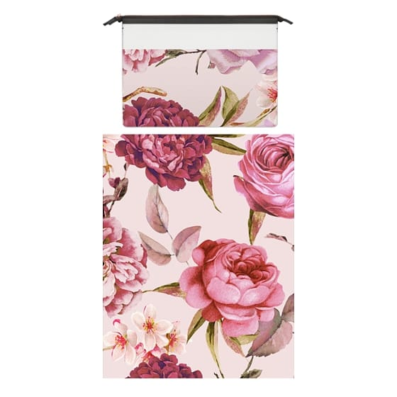 MacBook Pro Retina 15 Sleeves - Blush Pink Rose Watercolor Chic Illustration Floral Pattern
