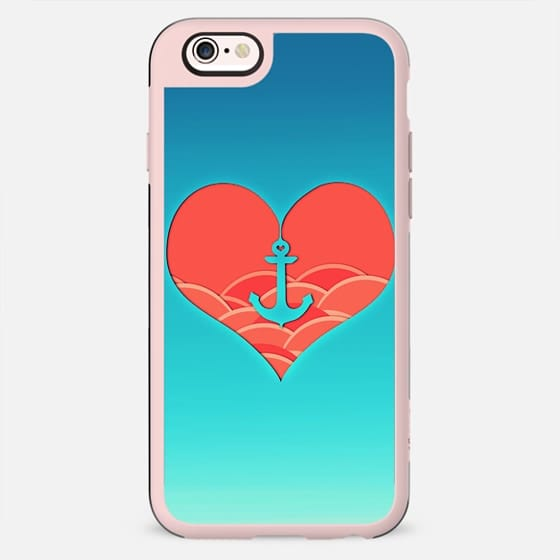 Trendy Heart anchor japanese waves artistic design - New Standard Case