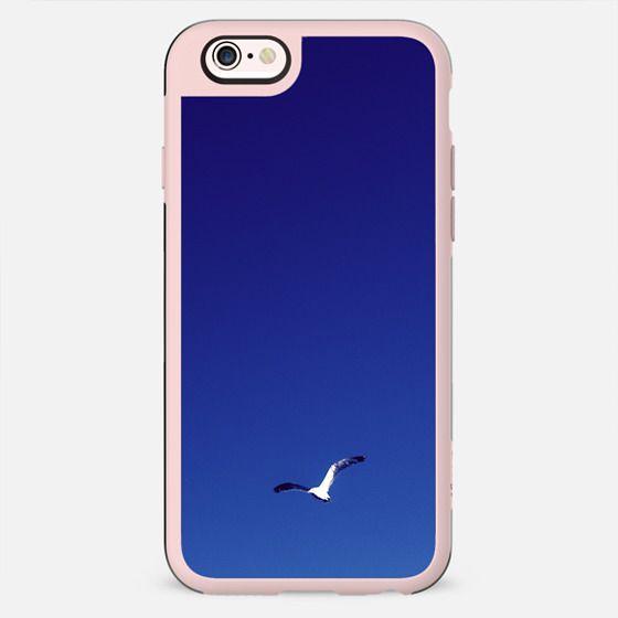 Bright Light Blue Dark Blue Gradient Sky Flying Bird - New Standard Case