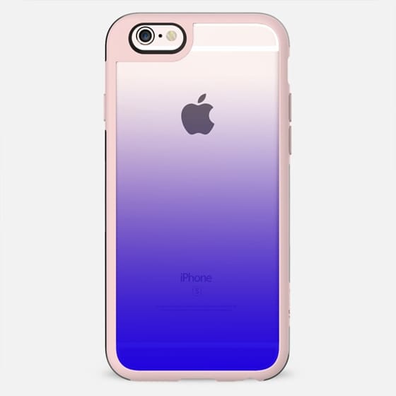 Simple Trendy Neon Blue to Transparent Gradient - New Standard Case