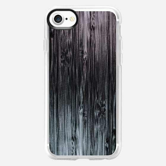 Black To White Grunge Bamboo Pattern - Classic Grip Case