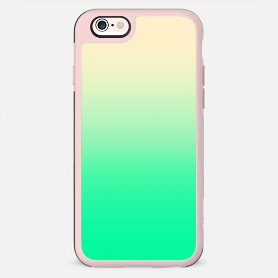 Cool Vintaged Neon Teal Green Gradient - New Standard Case