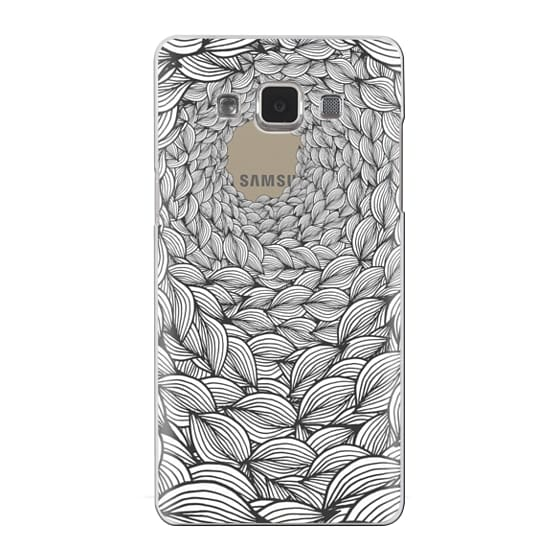 Classic Snap Samsung Galaxy A5 2014 Case Cool Abstract Hand Drawn Shape Spiral Pattern Design