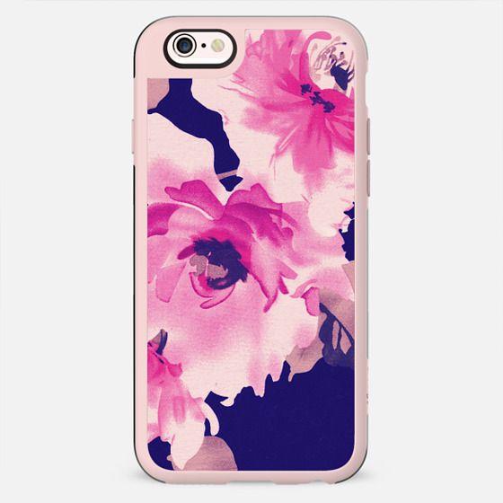 Elegant Vintage Floral Fabric Print in Pink and Black - New Standard Case
