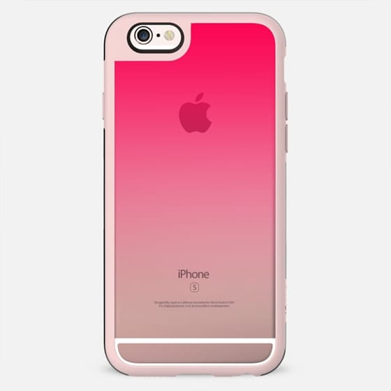Simple Trendy Hot Neon Pink to Transparent Gradient - New Standard Case