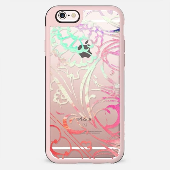 Colorful Summer Watercolor Painted Floral Flourishes on Transparent Background - New Standard Case
