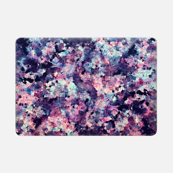Teal, Black, and Pink Granite Marble Stone Abstract Pattern