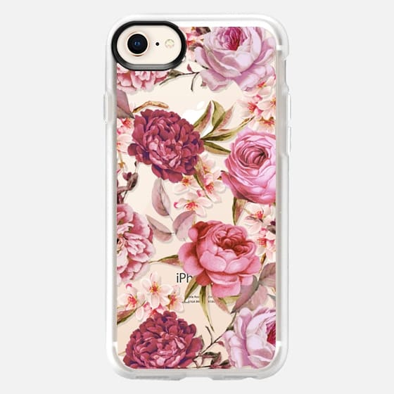 Blush Pink Rose Watercolor Chic Illustration Floral Pattern - Snap Case