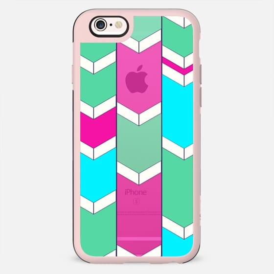 Trendy Chevron Arrow Zigzag Colorful Pink Teal Pattern - New Standard Case