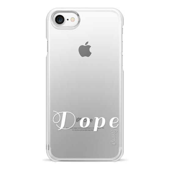 Snap Iphone 7 Case White Text Typography Of Dope On Transparent Background