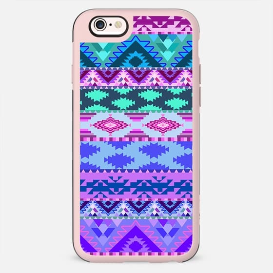 Girly Purple and Pink Andes Tribal Aztec Pattern