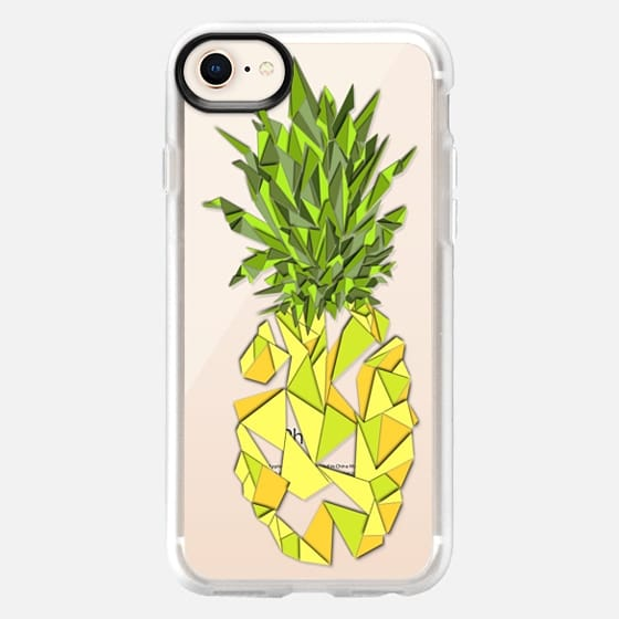 Bright Summer Yellow Geometric Fruity Triangles Pineapples on Transparent Background - Snap Case