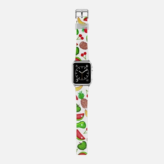 Tutti Fruity Hand Drawn Summer Pineapples, Grapes, Strawberries, Bananas, Cherries, Apples, Watermelons, & Pears Pattern -