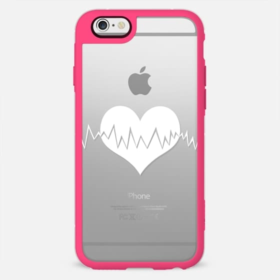 White Vector Love Heart Beat On Transparent Casetify