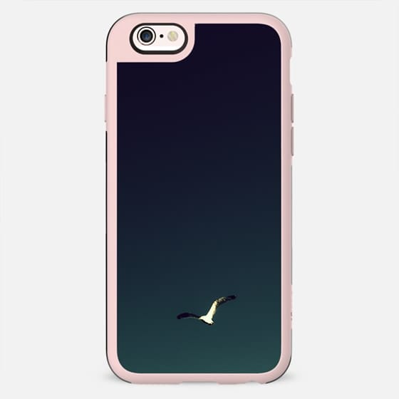 Bright Light Blue Dark Blue Gradient Sky Flying Bird - New Standard Case