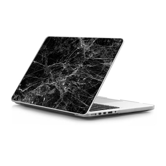 MacBook Pro Retina 15 Sleeves - Trendy Black and White Marble Stone Pattern